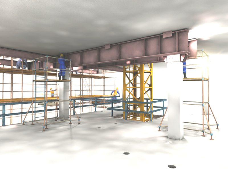 3D монтажные работы, Компас 3D, проекты производства работ