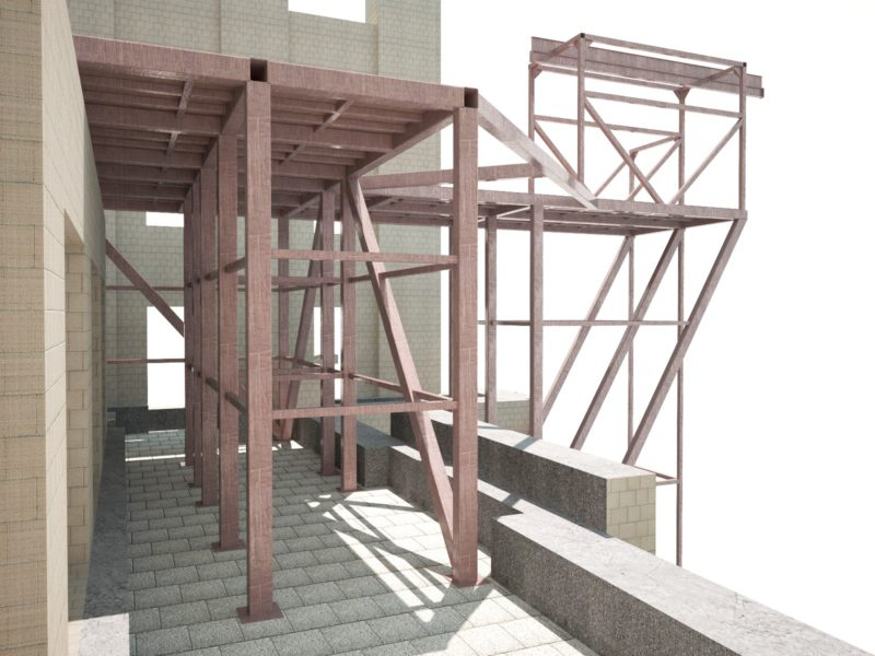 Проектирование металлоконструкций, надвижка, Компас 3D
