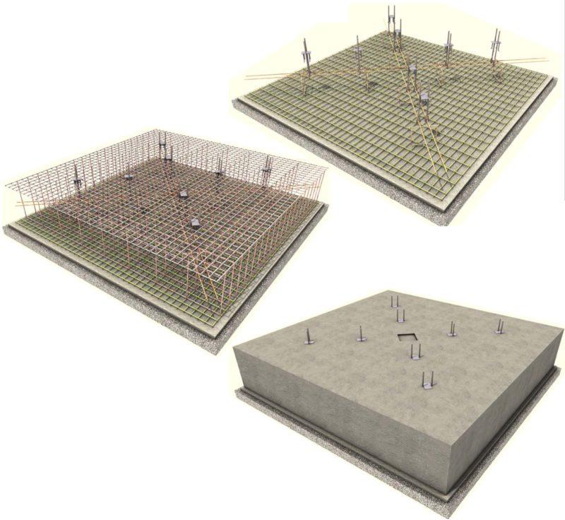 Фундамент под башенный кран, расчёт фундамента крана