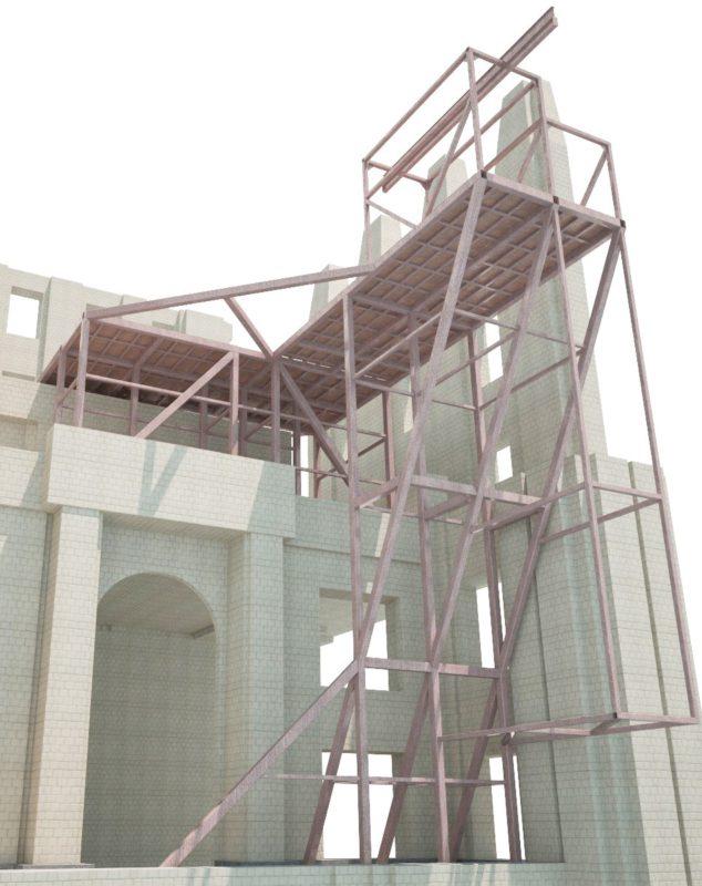 Пути надвижки грузов, проекты металлоконструкций Компас