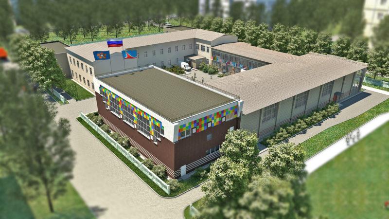 Рендеринг здания из Компас 3D