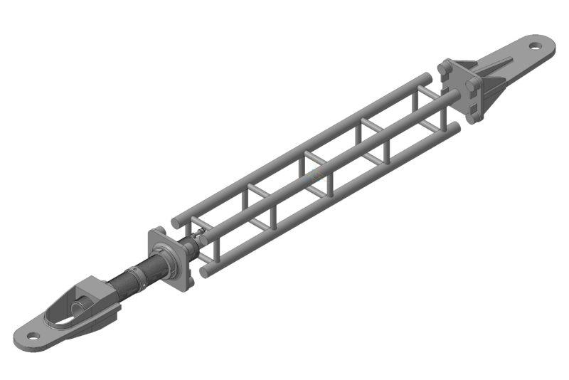 Крановая пристёжка, 3D модель Компас, 3D металлоконструкции, Компас 3D рендеринг
