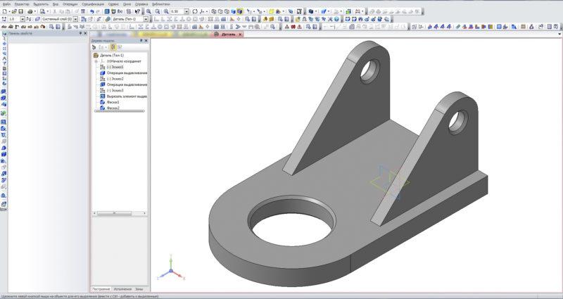 Базовая модель Компас 3D без дополнительной подготовки