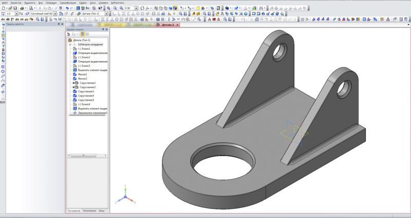 Подготовленная к визуализации модель Компас 3D