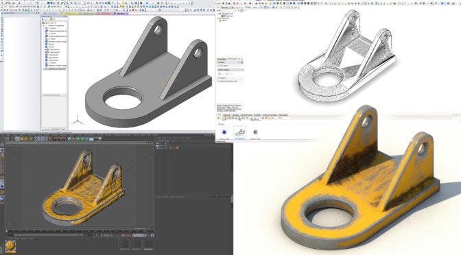 3D модель из Компас в CINEMA 4D