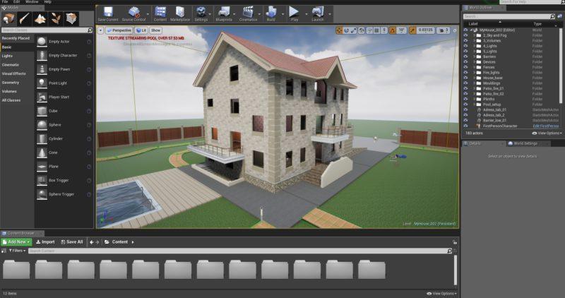 Компас 3D в Unreal Engine