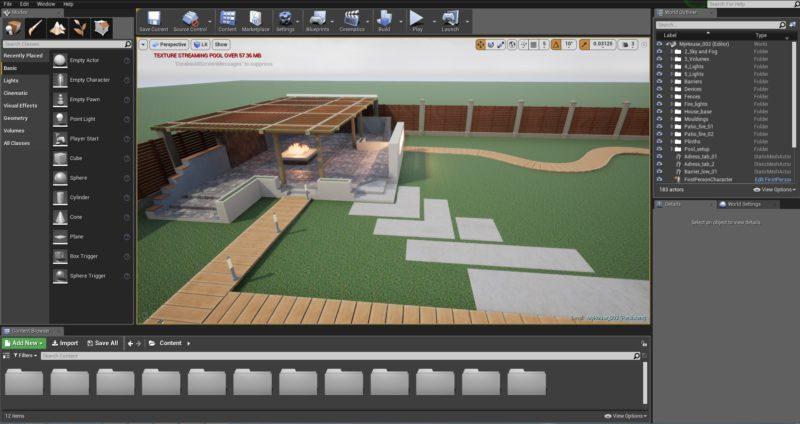 3D модель Компас в Unreal Engine 4