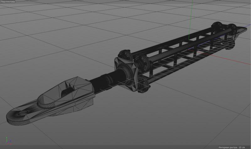 Открыть модель Компас 3D в CINEMA 3D, из Компаса в Синему