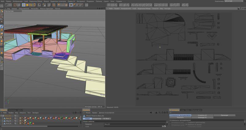 Настройка и развёртка модели Компас 3D в CINEMA 4D