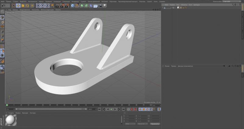 Модель Компас 3D в CINEMA 4D