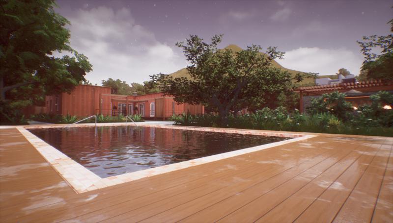 Unreal Engine 4, отражения, визуализация