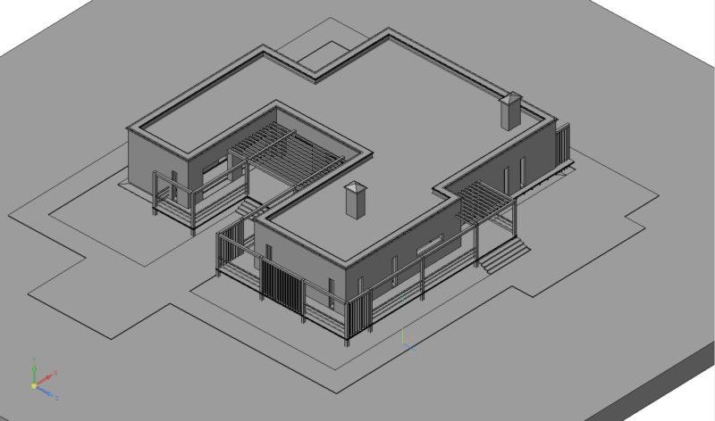 3D модель здания, Компас 3D здание