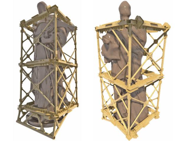 Кондуктор конструкция, кантование и транспортировка монументов, 3D металлоконструкция
