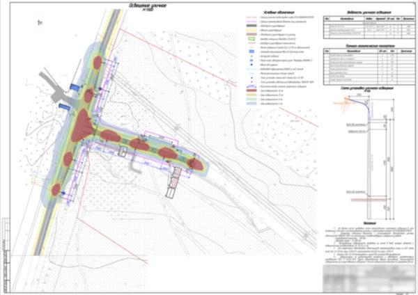 Организация дорожного движения, проект, освещение уличное, изолюксы